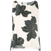 Forte Forte - sleeveless floral top - women - シルク - 2