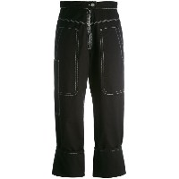 Isabel Marant - stitched panel trousers - women - コットン - 40