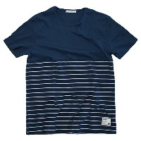 blue infinity ice(ブルーインフィニティアイス) BI−COLOR BORDER T−SHIRTS L 699 BIJ99507