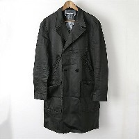 ART COMES FIRST アートカムズファースト 15AW BSH TRENCH TOWN チェック柄トレンチコート ダークグレー 36【中古】