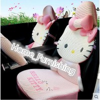 Car seat four seasons common cartoon cute female ice silk cushion sets