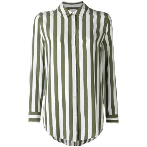 Equipment - vertical striped shirt - women - シルク - L