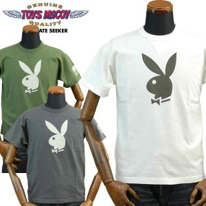 TOYS McCOYトイズマッコイ ミリタリー Tシャツ プレイボーイPLAYBOY「WELCOMES THE PLAYMATE OF THE YEAR」TMC1729