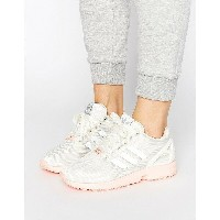 アディダス レディース スニーカー シューズ adidas Originals White ZX Flux Trainers With Pink Sole Ftwr white