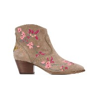 Ash - floral embroidered ankle boots - women - レザー/スエード - 36