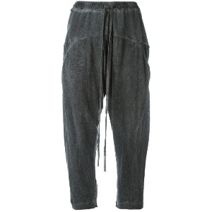 Lost & Found Ria Dunn - cropped track pants - women - リネン/スパンデックス - M
