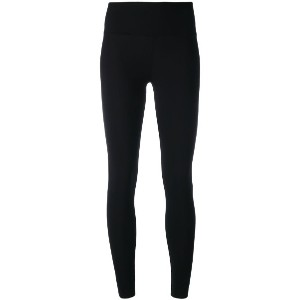 Y-3 - stripe detail leggings - women - スパンデックス/Polyimide - S