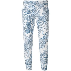 Fay - printed trousers - women - コットン - 46