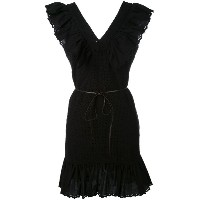Sonia By Sonia Rykiel - V-neck ruffle dress - women - コットン - 40