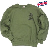 SOFFE(ソフィー)MARINE CORPS Sweat Shirt [D0024218][OD]
