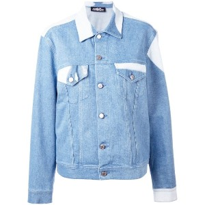 Jeremy Scott - face print denim jacket - women - コットン/繊維他 - 44