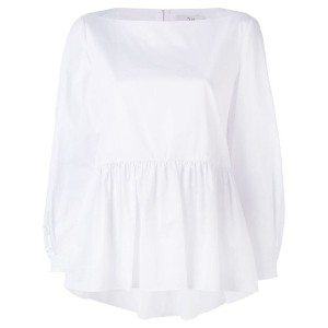 Tibi - pleated blouse - women - コットン - 0