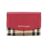 Burberry - Haymarket check wallet - women - レザー/ナイロン - ワンサイズ