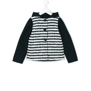 Herno Kids - striped jacket - kids - コットン/アクリル/ポリアミド/other fibers - 10歳