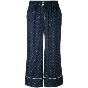 Erika Cavallini - polka dot cropped trousers - women - シルク - 42