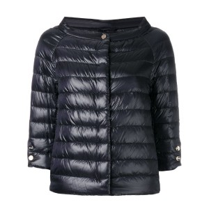 Herno - cropped sleeves padded jacket - women - ポリアミド - 46