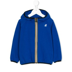 K Way Kids - logo print hooded jacket - kids - コットン/ポリエステル - 10歳