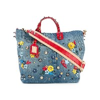 Dolce & Gabbana - embellished tote bag - women - コットン/レザー/metal/glass - ワンサイズ