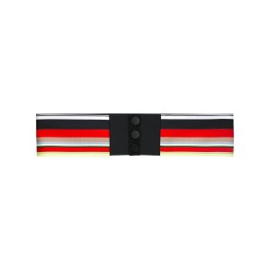 Diane Von Furstenberg - striped button belt - women - シルク/ポリエステル - ワンサイズ