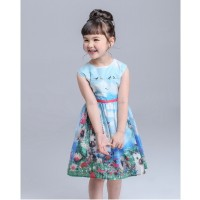 Girl Dress New Brand Baby Kids Clothes Vestidos Children Princess Party Dresses for Girls CartoON
