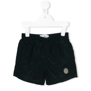 Stone Island Junior - logo patch swim shorts - kids - ポリアミド/Polyimide - 4歳