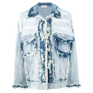 Faith Connexion - frayed denim jacket - women - コットン - S