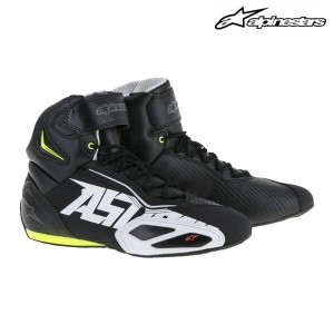 alpinestars FASTER 2 SHOES ライディングシューズ 2510216 (BLACK/WHITE/YELLOW FLUO/RED)