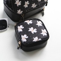 with alice Mini makeup pouch Black lily