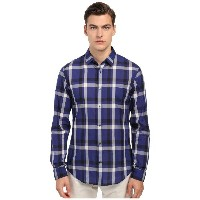 ヴィンス Vince メンズ トップス 長袖シャツ【Long Sleeve Graphic Plaid Button Up】Twilight Blue
