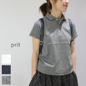 【5%10%OFFクーポン対象】4/28 18:00〜5/6 14:59まで prit(プリット) 60/2ラッセル ポロシャツ 3colormade in japan92747-t