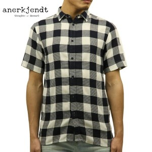 アナケット ANERKJENDT 正規品 メンズ 半袖シャツ KODY SHORT SLEEVE BLOCK CHECK SHIRT TOTAL ECLIPSE 9217045 A