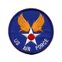 US AIR FORCEワッペン 丸 文字入り