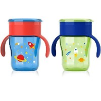 Philips AVENT My Natural Drinking Cup, 9 Ounce, Boy, 2 Count by Philips Avent [並行輸入品]