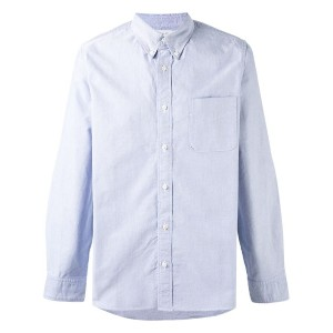 Visvim - elbow patch Oxford shirt - men - コットン - IV