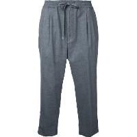 monkey time - zipped hem cropped trousers - men - ポリエステル/ウール - M