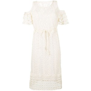 See By Chloé - crocheted cold shoulder dress - women - コットン - S