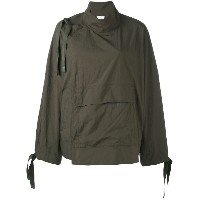 DKNY - side lace-up jacket - women - ナイロン - XS/S