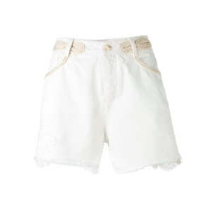 Ermanno Scervino - distressed denim shorts - women - コットン/ポリエステル - 42