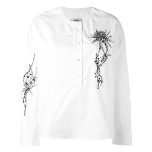 Carven - embroidered shirt - women - コットン - 36
