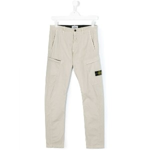 Stone Island Junior - Teen cargo trousers - kids - コットン/スパンデックス - 14 yrs
