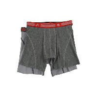 アディダス メンズ ブリーフパンツ アンダーウェア Athletic Stretch 2-Pack Boxer Brief Marl Heather Black/Ray Red/Grey/Black...