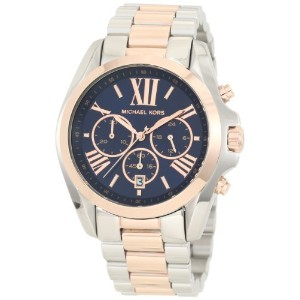 マイケルコース Michael Kors - Mid-Size Bradshaw Chronograph Watch Silver-Color/Rose Golden - MK5606 男性/女性...