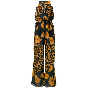 Paul Smith - floral print zipped jumpsuit - women - シルク - 42