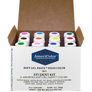 アメリカラー 12色セット Studentカラー#1【21g】Americolor Soft Gel Paste Student Color Kit 12 pc.