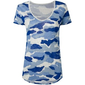 Majestic Filatures - camouflage T-shirt - women - リネン - 4