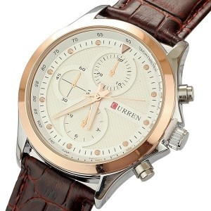 2014 Brand New Curren Male Quartz Watch Personalized Business Best Quality Genuine Leather Band Cloc