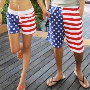 Women s Men S USA Flag Stars And Stripes Unisex Beach Board Shorts Trunks Pants