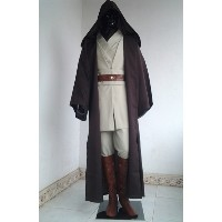 Star Wars Obi-Wan Kenobi Jedi Knight Complete Costume Cloak Cape Hood Suits Costumes Cosplay Hallowe