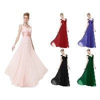 STOCK New Long Chiffon Evening Formal Party Ball Gown Prom Bridesmaid Dress 4-16