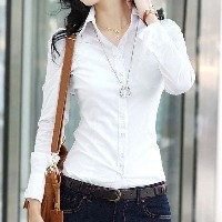 New Fashion Women Blouse Slim Blouse Ol Blouse Long-sleeve Women White Blouse Female White Shirt Spr